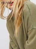 Steinwäsche-Pullover ÜberformatHoody