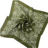 Mouchoir multifonctionnel de coton de Paisley de bonne qualité/Bandana magique (HWBHC02)