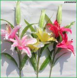 Fiori artificiali del giglio falso di alta qualità per la decorazione della casa di cerimonia nuziale
