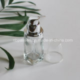 transparente Glasflasche 30ml mit Lotion-Pumpe für Kosmetik (PPC-NEW-099)