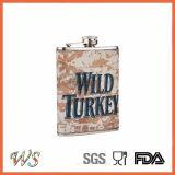 Wsjjyy013 alta calidad Cuero Petaca de acero inoxidable frasco de la cadera Flask Travel Licor Petaca