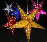 Luz colgante de la Navidad del LED de la celebración de días festivos de la boda de la caída decorativa del papel