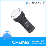 22mm 세륨과 RoHS 승인을%s 가진 직경에 의하여 보호되는 LED 표시기 램프