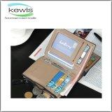 Alta qualidade RFID que obstrui a carteira de couro dos homens de negócio