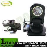45W 7inch drahtloses Fernsteuerungs-LED Recherche-Licht mit Halo-Ring für die Jagd