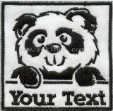 Stickerei-Änderung am Objektprogramm mit kundenspezifischem Firmenzeichen für Förderung