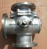 Tres Vías de acero al carbono de la válvula de bola flotante