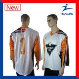 Healongはスポーツ・ウェアの通気性の昇華印刷のホッケージャージーをカスタマイズした