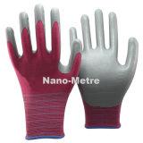 Серый Nmsafety из нитрила с другой стороны с покрытием защитные рабочие перчатки