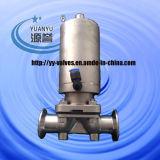 Sanitärmembranventil mit Edelstahl pneumatischem Antrieb