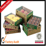 Kundenspezifische preiswerteste Supermarkt-Frucht-Speicher-Großhandelsmangofrüchte, die Bildschirmanzeige-Sammelpack mit Drucken, Früchte verpacken Kasten, Papiergeschenk-Kasten packen