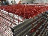 rete metallica della catena di colore dell'arancio di 2200mm x di 1100mm per le barriere provvisorie della costruzione del mercato di Nz