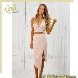 衣料メーカーOEM 2部分セットの服の女性の豪華なブティックの服