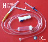 Conjunto de infusão descartável aprovado CE / ISO / IV