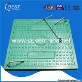 крышка люка -лаза 500X500mm FRP квадратная с замком