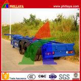 3 châssis de squelette de l'essieu semi-remorque pour le transport