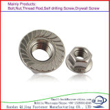 Noix Hex de bride de l'acier du carbone DIN6923 galvanisée
