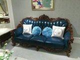Sofá de couro de estilo americano, Sofá de couro de cera antiga, Sofá de modelo novo de alta qualidade (B018)