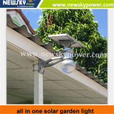 Lâmpada solar do jardim do diodo emissor de luz do branco fresco 12W