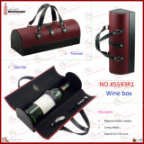 2014 Doos van de Fles van de Wijn van het Leer Faux de Enige (5593R1)