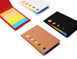 Notes collantes portatives raides de rectangle multicolore Shaped créateur
