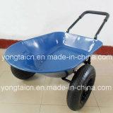 Carriola del giardino del cassetto del metallo da 5 piedi cubi con le doppie rotelle