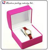 Lederner Uhr-Kasten-Verpackungs-Bildschirmanzeige-Speicher-Uhr-Luxuxkasten hergestellt vom Plastik mit Leder (Sy0119)