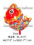 O ano novo decora o balão