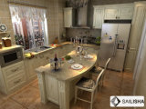 البيت الحديث أثاث الفندق جزيرة تركيا الخشب مطبخ مجلس الوزراء