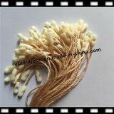 Tag plástico simples preto da corda de pano com linha de nylon (ST035)