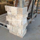Бежевый тип камень травертина штабелированный стеной, каменная панель, каменный Veneer