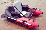 Verkaufendes rotes aufblasbares Spitzenboot für Fischen und das Genießen der Lite-Zeit