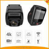 4K de dubbele Camera van de Auto van de Camera met WiFi, g-Sensor, GPS, de Opname van de Lijn. Over de Auto DVR van de Waarschuwing van de Snelheid