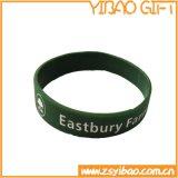 Wristband feito sob encomenda do silicone do Imprint de Deboss para o esporte (YB-w-008)