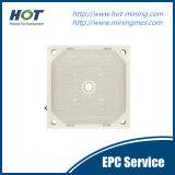 Placa de pressão de filtro de membrana hidráulica automática de alta pressão