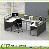 Modernes L Form-Partition-Büro-Arbeitsplatz für Person 4