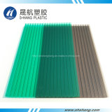 Crystal Green e Bronze Hollow Polycarbonate Plastic Panel