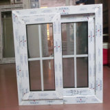 Indicador de deslizamento branco do frame UPVC do projeto da grade