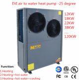 12.8-18.8kwヒートポンプに水をまく低いAmbeintの温度領域の(-25Cに低い)高く効率的なEviの空気