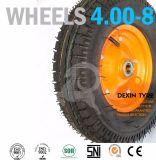 La carriola spinge la macchina per colata continua di gomma della rotella 3.50-4 delle rotelle del camion di mano