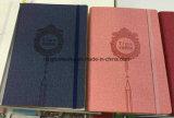 Agenda Softcover de cahier de couverture de cuir d'unité centrale de tourillon de qualité