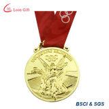 Medalla de oro de la insignia 3D del logotipo de la yoga modificada para requisitos particulares para el ganador
