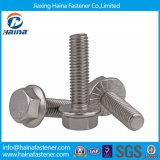 ASME B18.2.3.4m Cabeça hexagonal de aço inoxidável com parafuso de flange de lavagem M8 M10 M12 M16 M18
