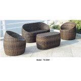 PE патио плетеную мебель для ресторанов на открытом воздухе в саду современный диван
