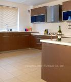 2018 Brown Acabamento verniz brilhante mobiliário de armário de cozinha