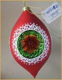Оливкового стекла Рождества в форме рабочих для украшения дерева