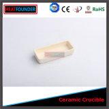 Crogiolo di ceramica del cassetto dell'allumina rettangolare di resistenza della corrosione per il forno della fornace