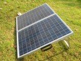 складывая панель солнечных батарей 80W для располагаться лагерем с кабелем 10m