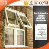 Los Estados Unidos el estilo y personalizar el tamaño de ventana Toldo de Aluminio, Madera de pino macizo huecos de ventana con gas argón dentro