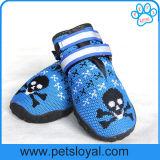 O cão respirável calç o protetor de confeção de malhas da pata do delicado com a fita mágica reflexiva